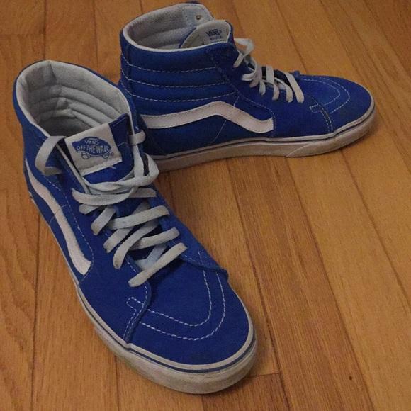 3f426811240 Blue Suede High Top Vans. M 5a6d00a172ea888a66a0544b. Other Shoes ...